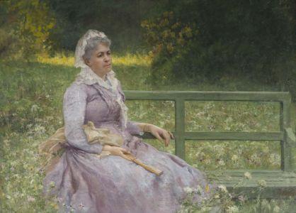 Pompeo Mariani - Mia madre in giardino