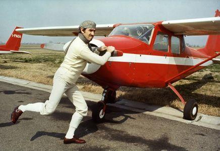 Silvano Bergamaschi-Bologna 1974-Walter Chiari In Una Delle Sue Gag Prima Di Pilotare