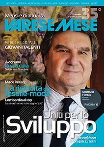copertina varesemese numero di aprile 2018 Giorgio Fossa in copertina